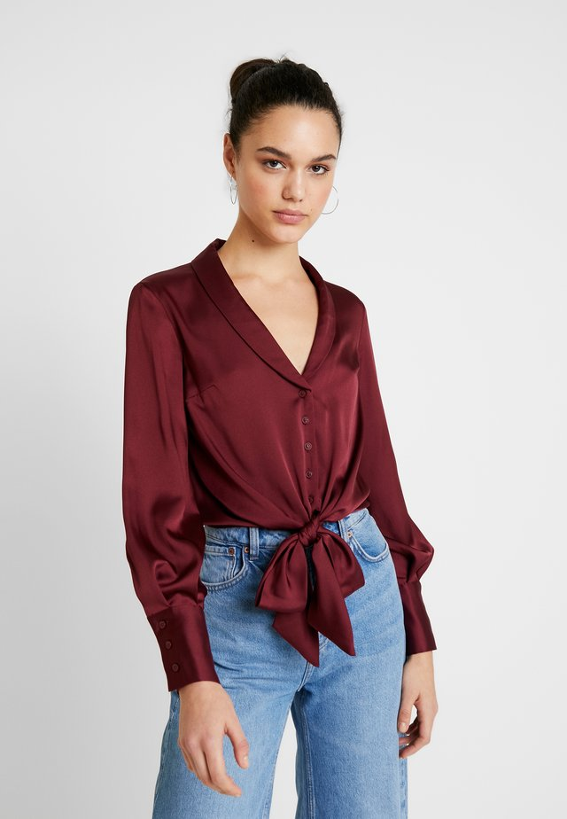 KNOT FRONT - Camicetta - burgandy