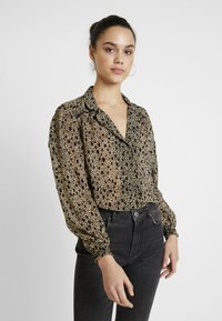 Topshop - FLOCK ANIMAL - Camicetta - black - 0