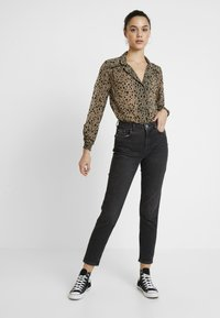 Topshop - FLOCK ANIMAL - Camicetta - black - 1