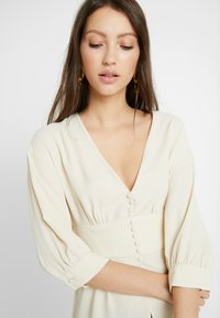 Topshop - PLUNGE DOWN - Blouse - off-white - 4