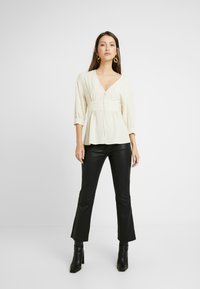 Topshop - PLUNGE DOWN - Blouse - off-white - 1