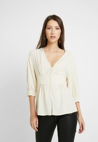 Topshop - PLUNGE DOWN - Blouse - off-white - 0