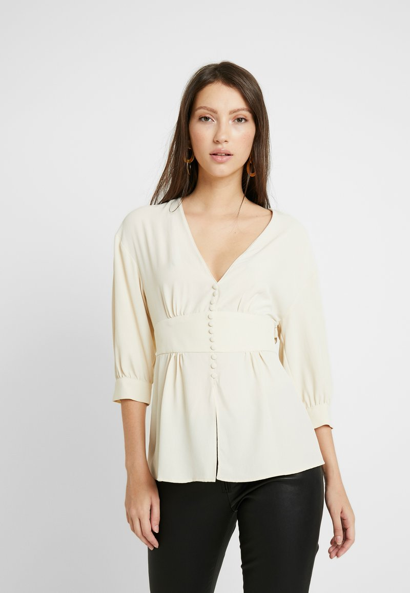 Topshop - PLUNGE DOWN - Blouse - off-white
