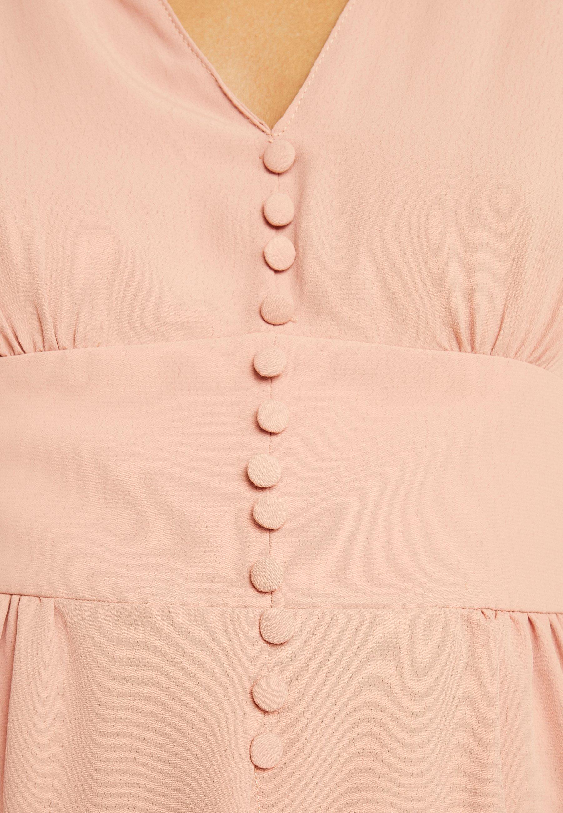 Topshop PLUNGE BTON DOWN - Blouse dark pink