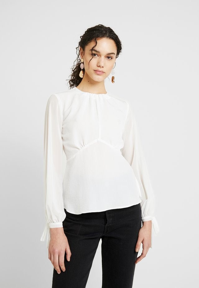 PLAIN SHEER SLEEVE TEA BLOUSE - Blouse - ivory