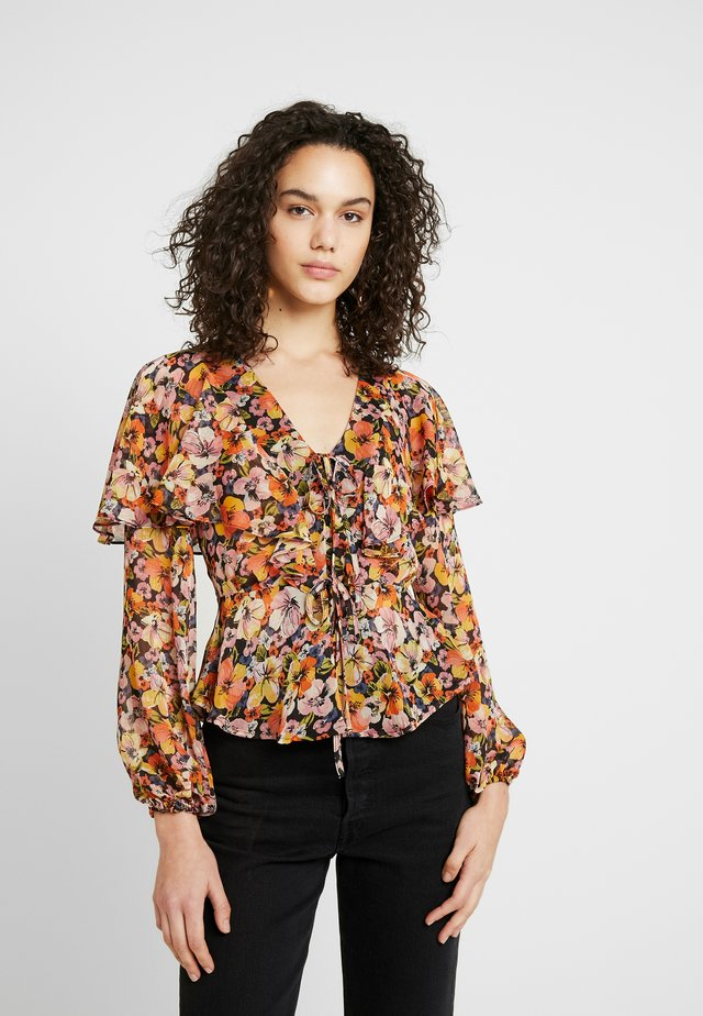 COLOURFUL FLORAL BED - Blus - multi-coloured