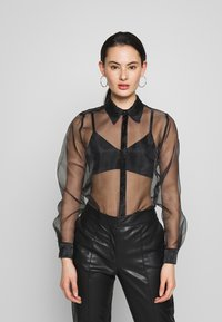 Topshop - OVERSIZED  - Camicia - black - 0