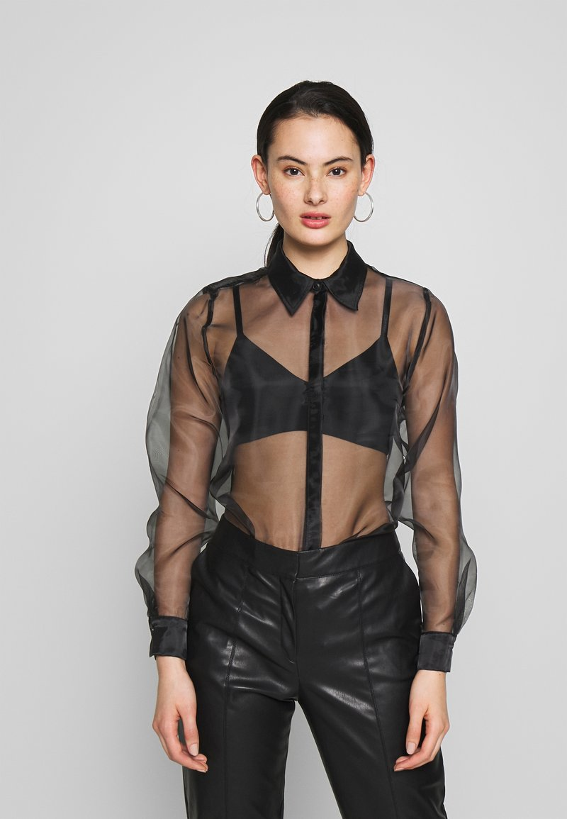 Topshop - OVERSIZED  - Camicia - black