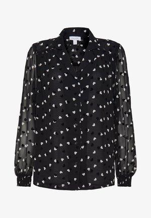 HEART FLOCKED - Button-down blouse - mono