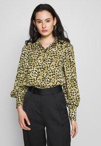 Topshop - SMUDGE - Button-down blouse - khaki - 0