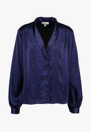 SCALLOP - Button-down blouse - dark blue