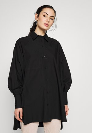 OVERSIZED POPLIN UPDATE - Blouse - black