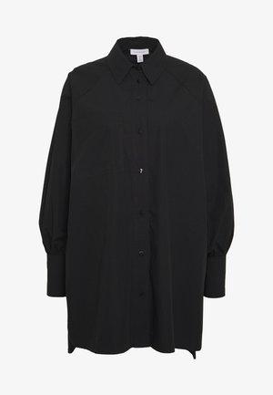 OVERSIZED POPLIN UPDATE - Bluse - black