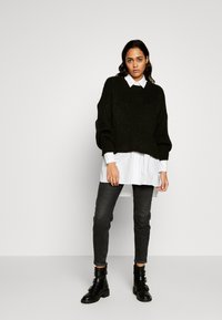 Topshop - OVERSIZED POPLIN UPDATE - Blouse - white - 1