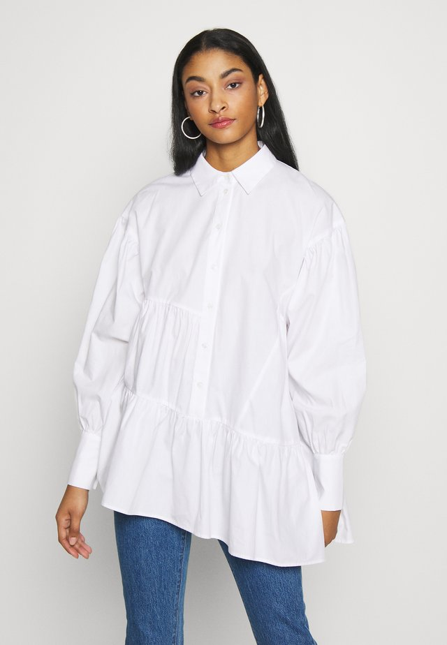 TIERED SHIRT - Blouse - white