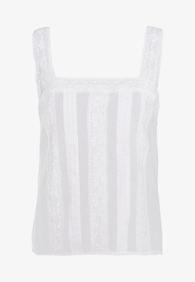 IVORY BORDERIE CAMI - Blusa - ivory