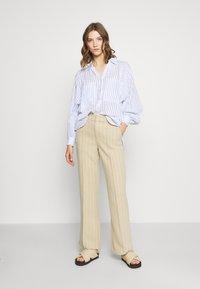 Topshop - STRIPE CASUAL - Button-down blouse - blue - 1