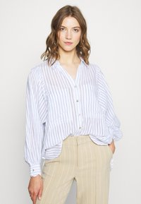 Topshop - STRIPE CASUAL - Button-down blouse - blue - 0