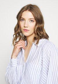 Topshop - STRIPE CASUAL - Button-down blouse - blue - 3