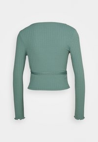 Topshop - TEXTRD BALLET WRAP - Long sleeved top - slate blue - 1