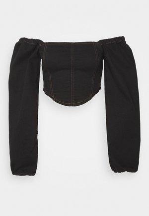 CORSET - Camicetta - black