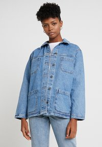 Topshop - SHACKET - Denim jacket - blue denim - 0