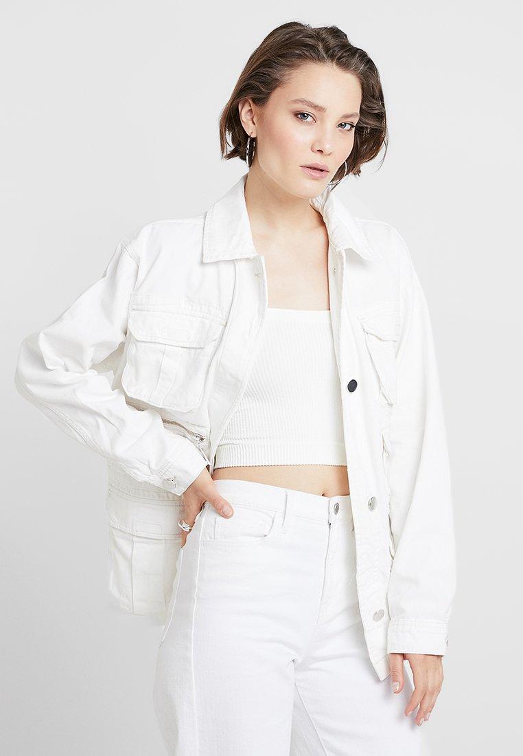 Topshop - JOSE SHACKETT - Lehká bunda - white