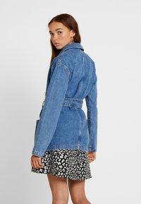Topshop - BELTED SHACKET - Short coat - blue denim - 2
