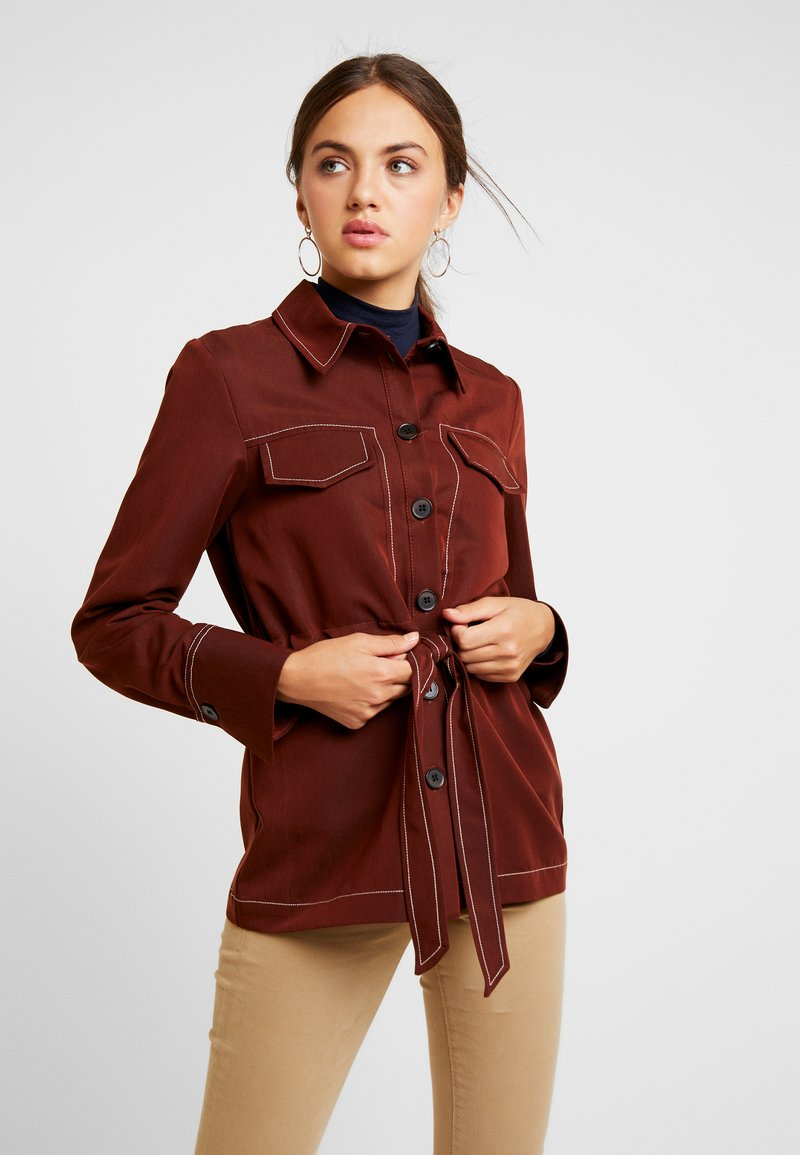 Topshop - BELT - Summer jacket - rust
