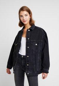Topshop - DAD - Veste en jean - black denim - 0
