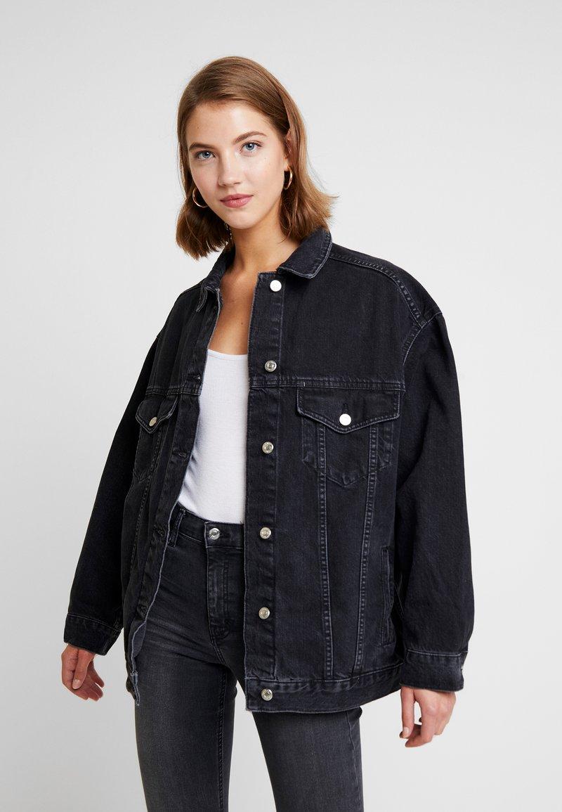 Topshop - DAD - Veste en jean - black denim