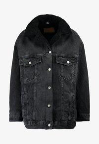 Topshop - BORG LINED DAD - Denim jacket - black - 5