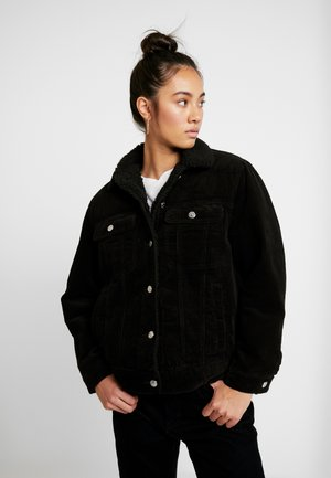 BORG JACKET - Jas - black