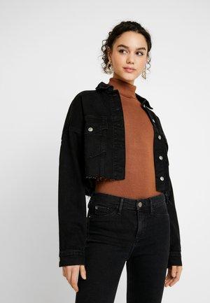 HACKED OFF - Veste en jean - black denim