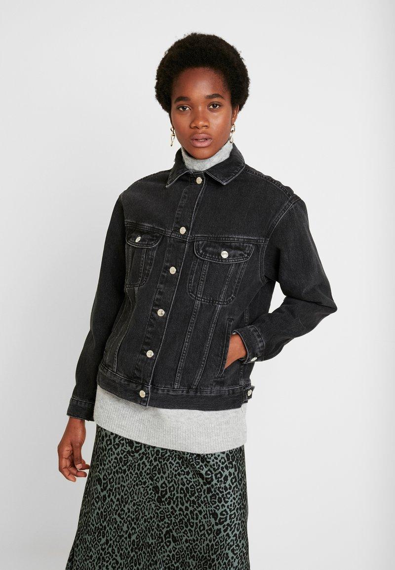 Topshop - SEAM WESTERN - Veste en jean - black denim
