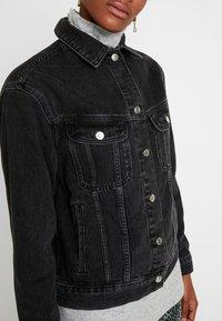 Topshop - SEAM WESTERN - Veste en jean - black denim - 4