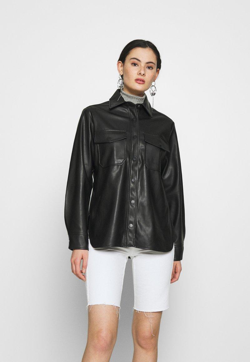 Topshop - Faux leather jacket - black