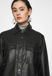 Topshop - Faux leather jacket - black - 3