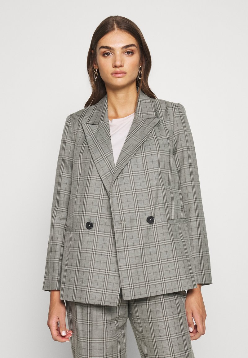 Topshop - CHECK JACKET - Blazer - mint
