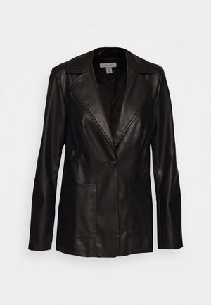 PU BLAZER - Blazer - black
