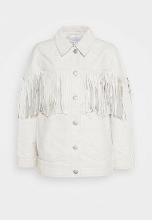 ROY FRINGE JACKET - Leather jacket - white