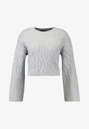 CABLE CROP - Jumper - grey marl