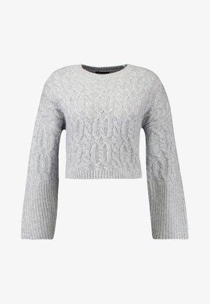 CABLE CROP - Jersey de punto - grey marl