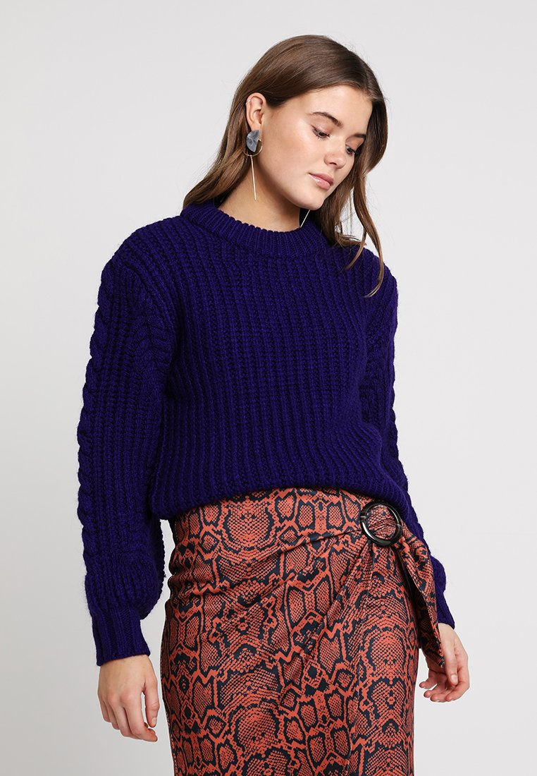 Topshop - PALIT SLEEVE JUMPER - Strickpullover - purple