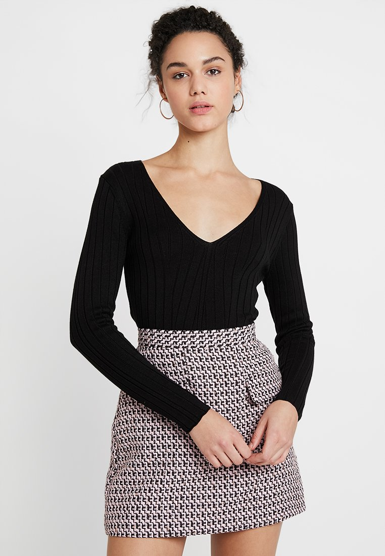 Topshop - JUMPER - Strickpullover - black