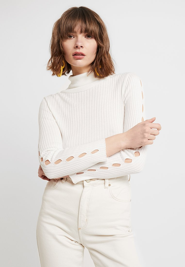 Topshop - SPLICED ROLL - Strickpullover - ivory