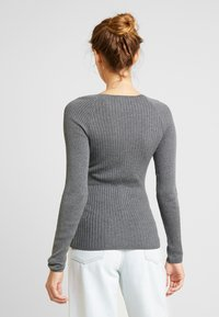 Topshop - BUTTON PLACKET FUNNEL - Maglione - grey - 2