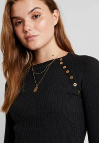 Topshop - BUTTON PLACKET MODERN FUNNEL - Svetr - charcoal - 4