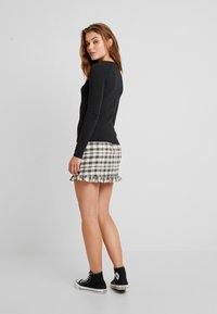 Topshop - BUTTON PLACKET MODERN FUNNEL - Svetr - charcoal - 2