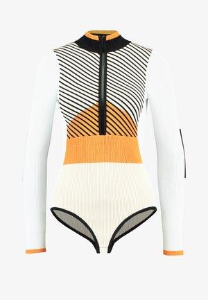 SNO BODY - Maglione - orange/ white